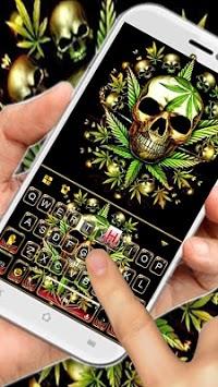 Gold Weed Skull Keyboard Theme APK screenshot 1