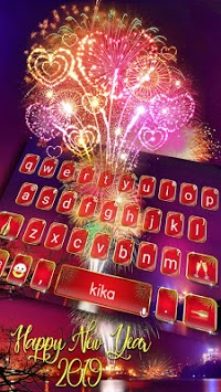 Happy New Year 2019 Keyboard Theme APK screenshot 1