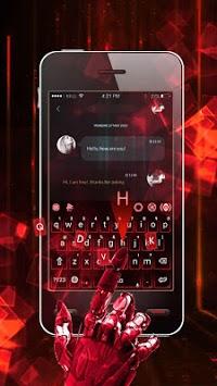 Hologram Neon Keyboard Theme APK screenshot 1