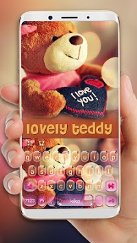 Lovely Brown Teddy Keyboard Theme APK screenshot 1