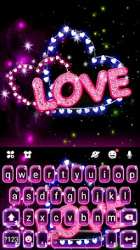 Neon Love Keyboard Theme APK screenshot 1