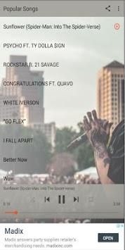 Post Malone's most popular songs APK screenshot 1