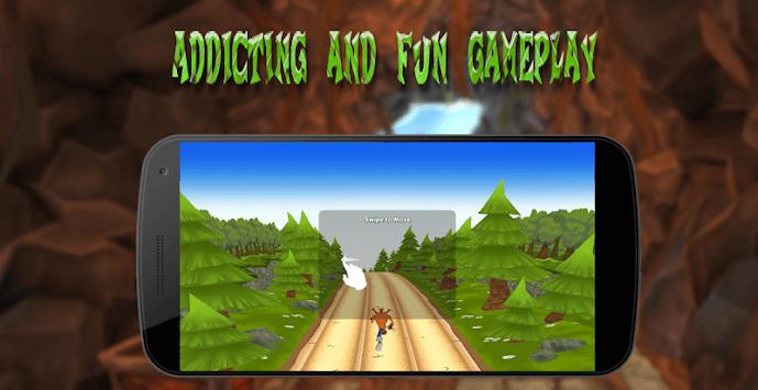 Crash jungle run APK screenshot 1