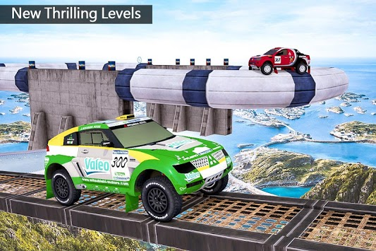 Impossible Drive Tracks Car Racing - Industrial APK screenshot 1
