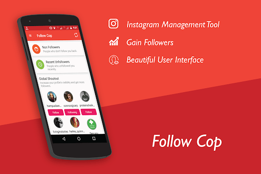 Unfollowers for Instagram, Follow Cop APK screenshot 1