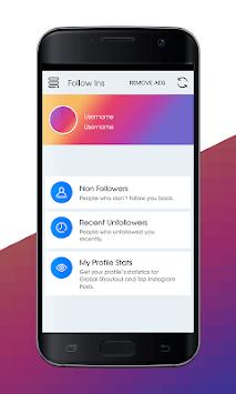 Unfollowers for Instagram - Non Followers 2019 APK screenshot 1