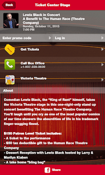 Ticket Center Stage APK screenshot 1