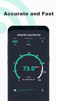 Free Internet speed test - SpeedTest Master APK screenshot 1