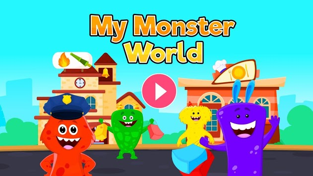 My Monster World - Town Play Games for Kids APK screenshot 1
