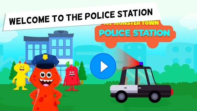 My Monster Town - Police Station Games for Kids APK screenshot 1