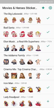 Movie and Comics Stickers - WAStickerApps APK screenshot 1