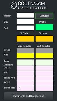 COL Financial Calculator APK screenshot 1