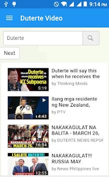 DuterteVideo APK screenshot 1
