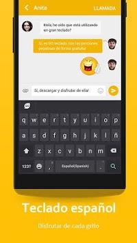 Spanish Language - GO Keyboard APK screenshot 1