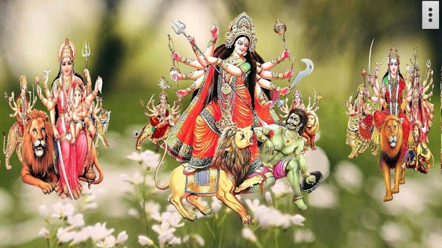 4D Maa Durga Live Wallpaper APK screenshot 1