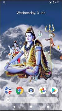 4D Shiva Live Wallpaper APK screenshot 1