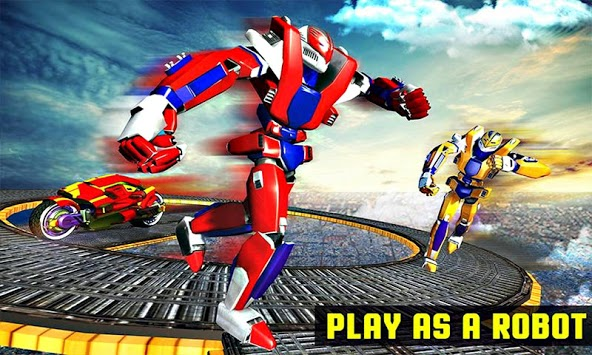Impossible Robot Bike Extreme Stunts Challenge APK screenshot 1