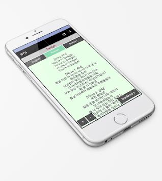All BTS Lyrics Songs Ringtones & Wallpapers APK screenshot 1