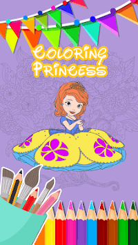 Sofia Princess Coloring Book APK screenshot 1