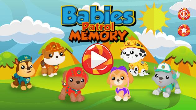 Babies Pups Memo Patrol APK screenshot 1
