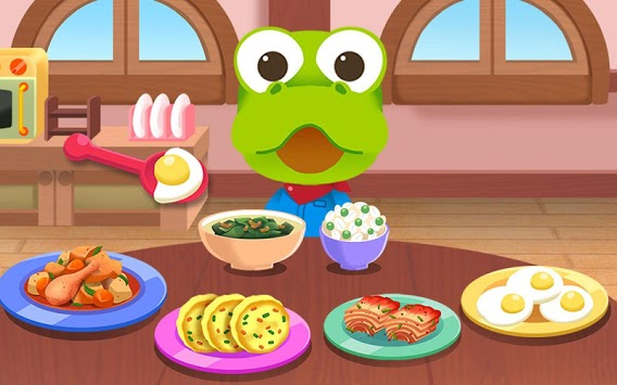 Pororo eating game - Kids Healthy Eating Habits APK screenshot 1