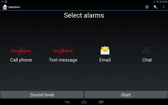 Baby Monitor / Baby Alarm APK screenshot 1