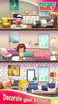 Pocket Family: Play & Build a Virtual Home APK screenshot 1