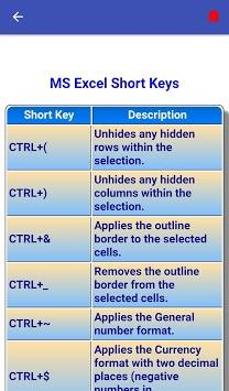 Offline Excel Course | Excel Tutorial APK screenshot 1