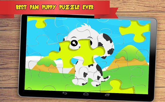 Paw Puppy Jigsaw Puzzle APK screenshot 1