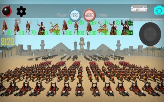 CLASH OF MUMMIES: PHARAOH RTS APK screenshot 1