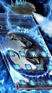 Neon Godzilla Thunder Theme APK screenshot 1