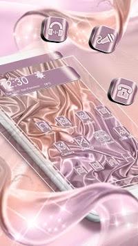 3D Rose Gold Silk Parallax Theme APK screenshot 1