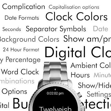 Twelveish - Customizable Watch Face for Wear OS APK screenshot 1