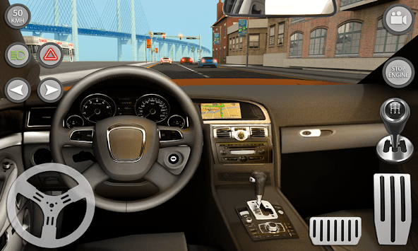 Real Car Driving With Gear : Driving School 2019 APK screenshot 1