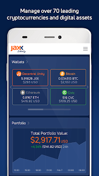 Jaxx Liberty: Cryptocurrency, Blockchain Wallet APK screenshot 1