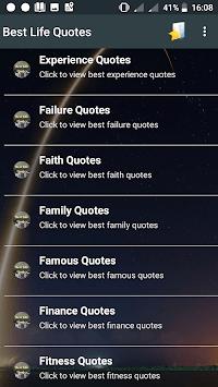 Best Life Quotes APK screenshot 1