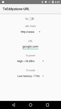 Eddystone URL Broadcaster APK screenshot 1