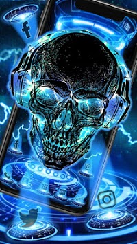 Neon Tech Skull Themes HD Wallpapers 3D icons APK Download ...