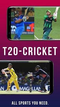 Live Cricket T20 odi TV APK screenshot 1