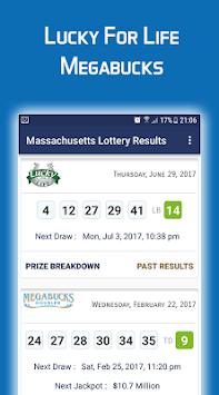 Massachusetts Lottery Results APK screenshot 1