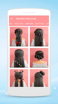 Hairstyles step by step for girls APK screenshot 1