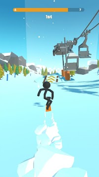 Stickman Snow Ride APK screenshot 1