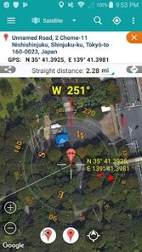 Map coordinate APK screenshot 1