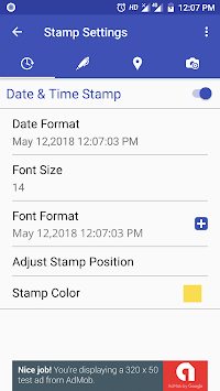 PhotoStamp Camera Free APK screenshot 1