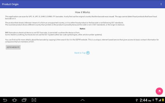Product Origin APK screenshot 1