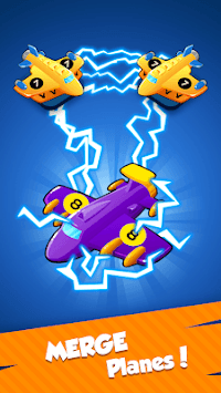 Plane Aircraft Merge - Idle Plane Coin Maker APK screenshot 1