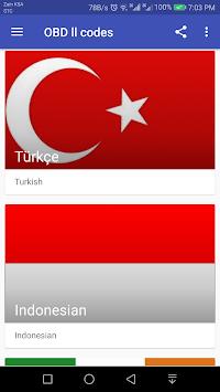 OBD ll codes APK screenshot 1
