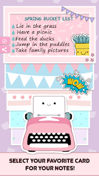 Cute Sticky Notes Widget APK screenshot 1