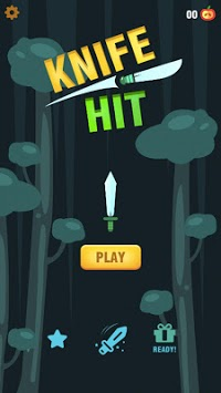 Knife hit slice woods APK screenshot 1