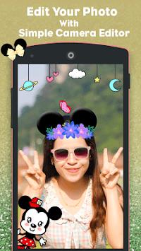 minni mouse camera photo : cute micky sticker APK screenshot 1